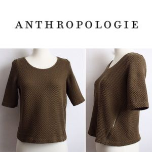 Anthropolgie Postmark Knit Zipper Top